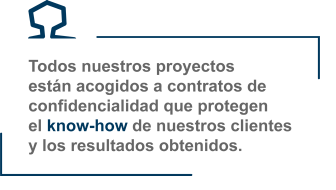 proyectos acogidos a contratos de confidencialidad